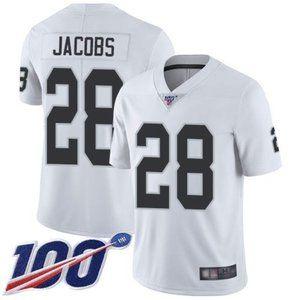 Raiders Josh Jacobs 100th Season Jersey 1